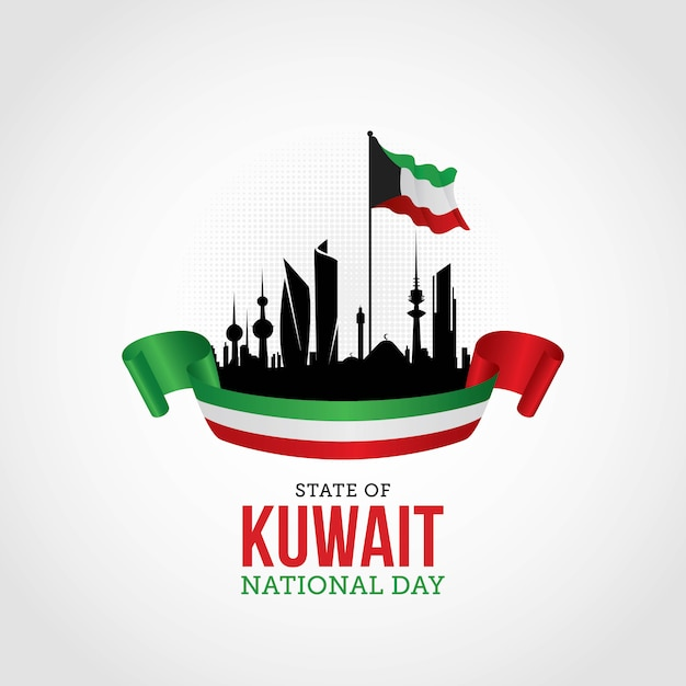 Kuwait national day Premium Vector