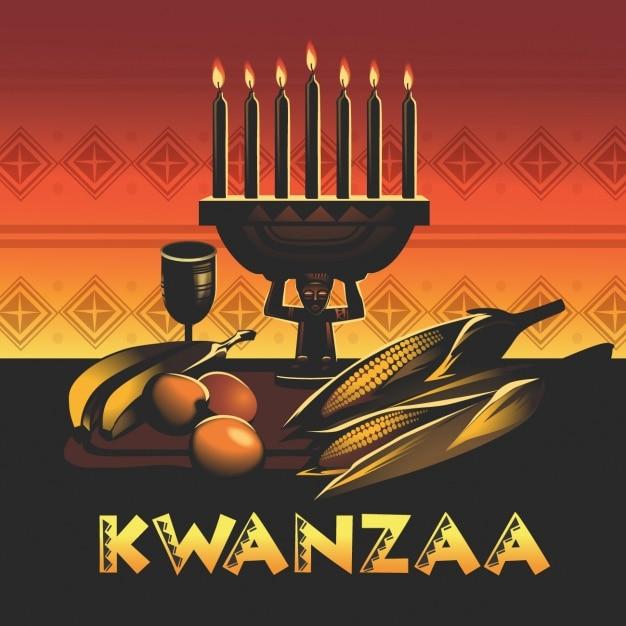 Kwanzaa background design Free Vector