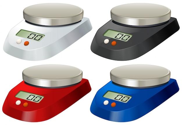 Лабораторные весы с металлическим подносом Бесплатные векторы