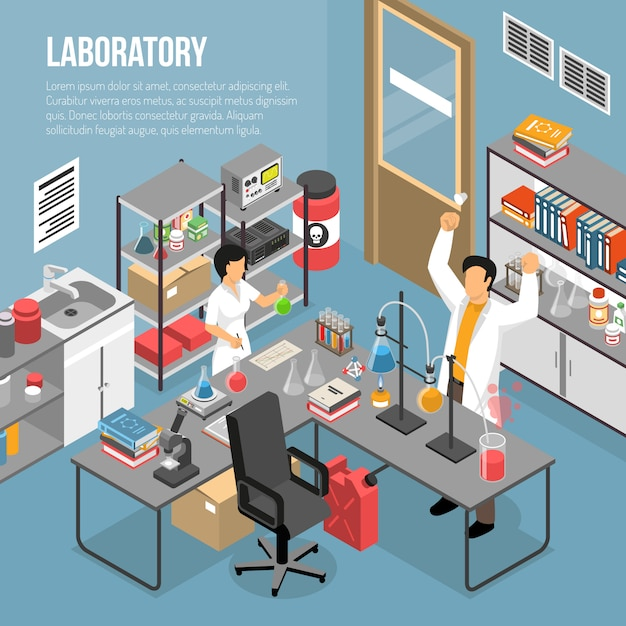 In the lab template Free Vector