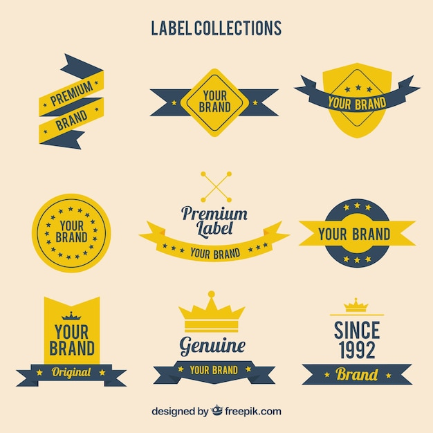 Label Template Collection Vector  Free Download