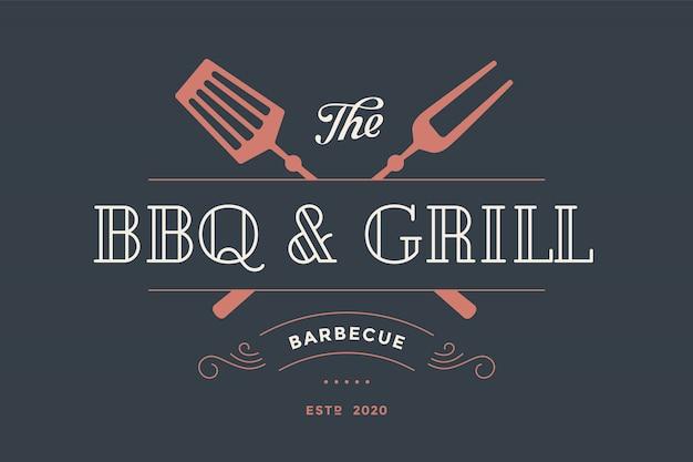 Label template for meat restaurant Premium Vector