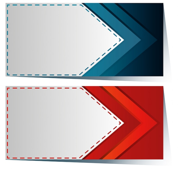 Label Template With Blue And Red Arrow Vector  Free Download