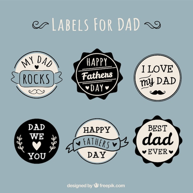 Labels for dad vector free download - I love you daddy download ...