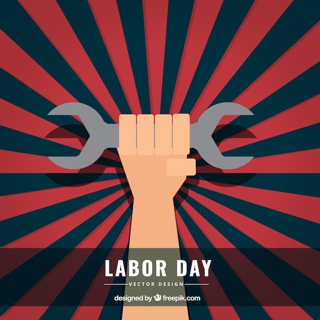 Labor day background in sunburst style