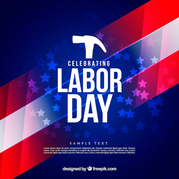 Labor day background in usa