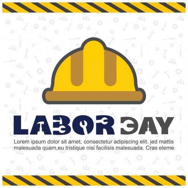 Labor day background with a yellow\ helmet