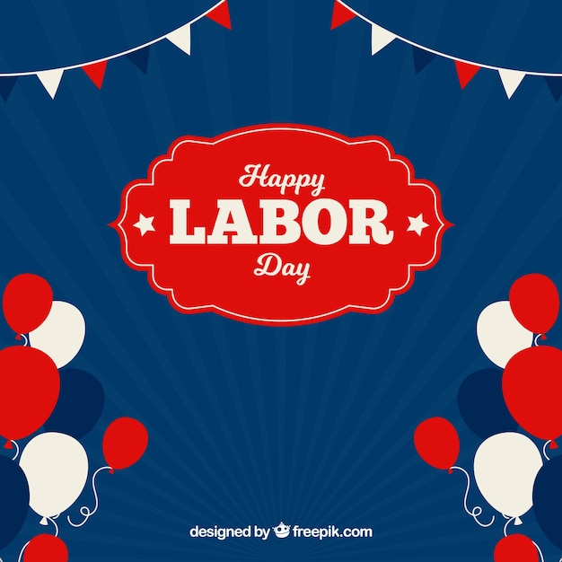 Labor day background with balloons