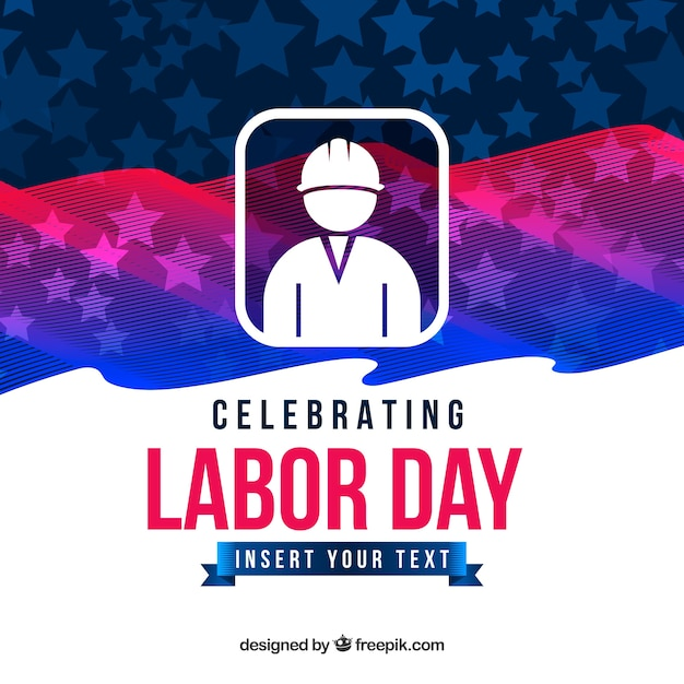 Labor day background with flag