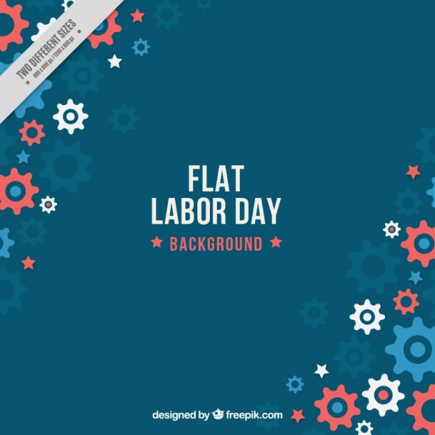 Labor day background with gears