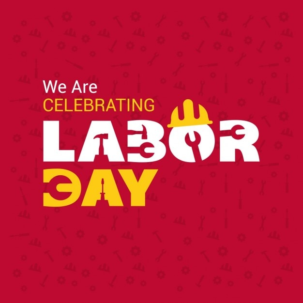 Labor day background with tools Free Vector