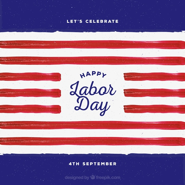 Labor day background with watercolor stripes