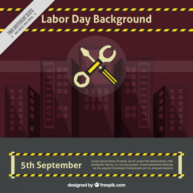 Labor day background with wrench and\ screwdriver