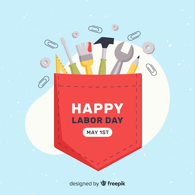 Labor day background Free Vector