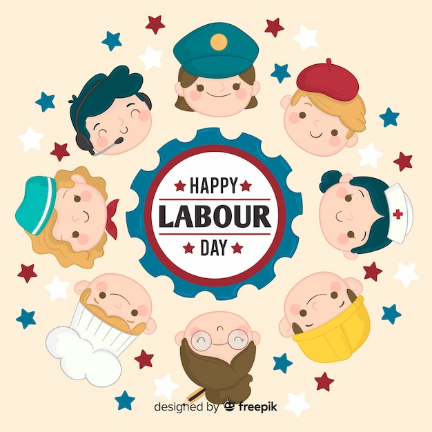 Free Vector Labor Day Background