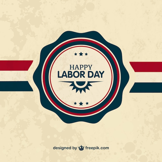 Labor Day Badge Vector  Free Download