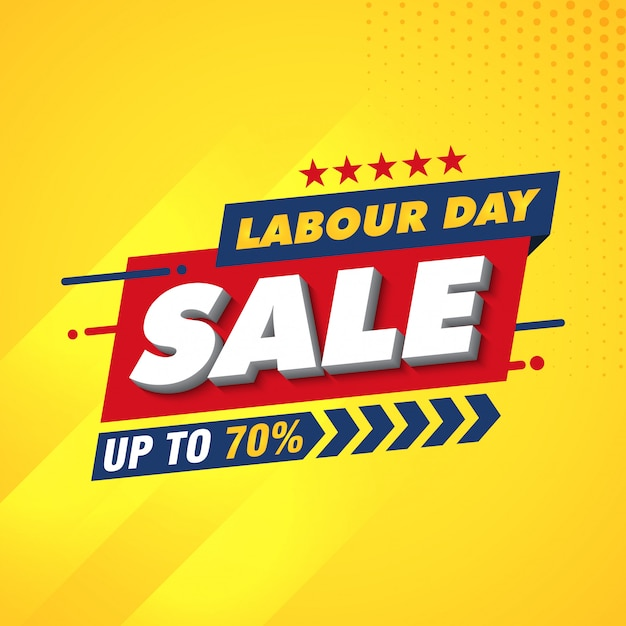 Labor day banner design template Premium Vector