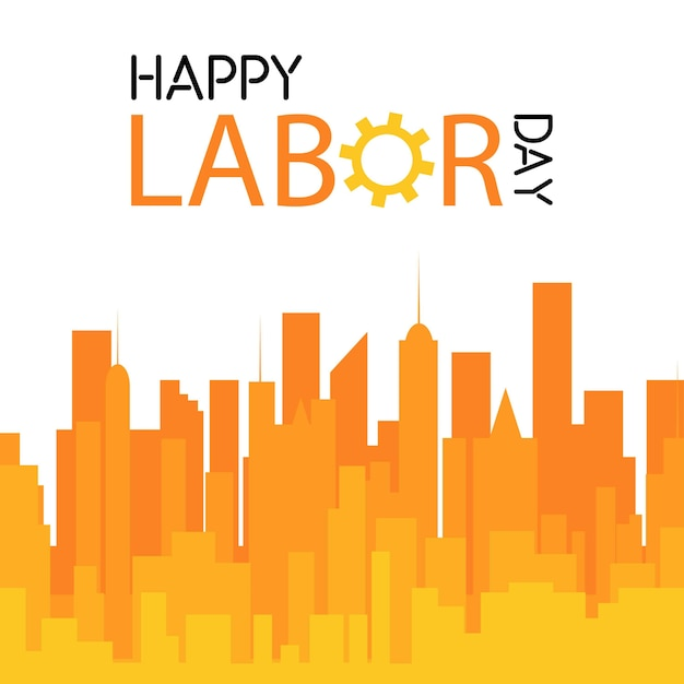 Labor day celebration design with unique style vector Free Vector
