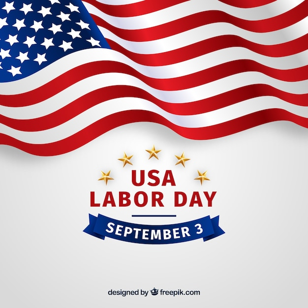Labor day composition with realistic\ style
