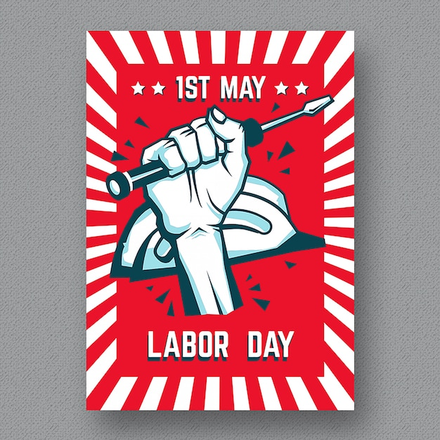Labor Day Flyer Template Premium Vector
