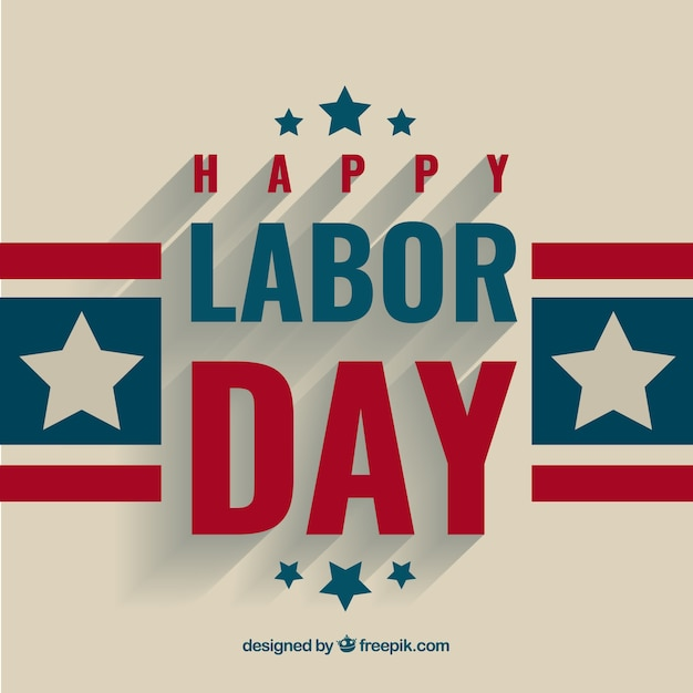 Labor Day Greeting Background Vector Free Download
