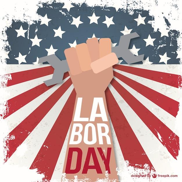 Labor Day Grunge Illustration Vector Free Download