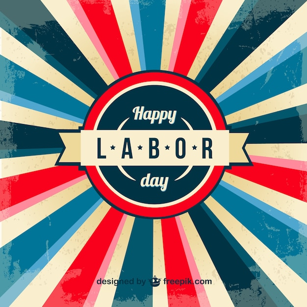 Labor day illustration posters