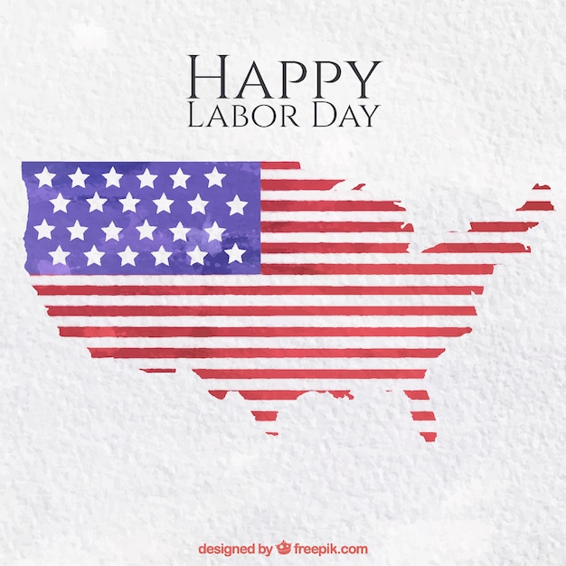 Labor day map background Free Vector
