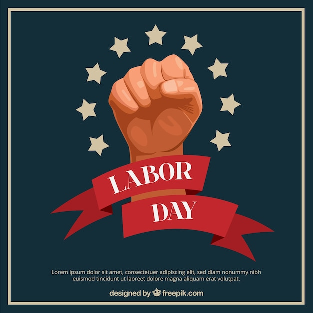 Labor day poster Free Vector