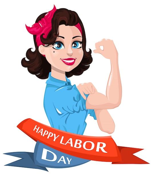 Labor day poster Premium Vector