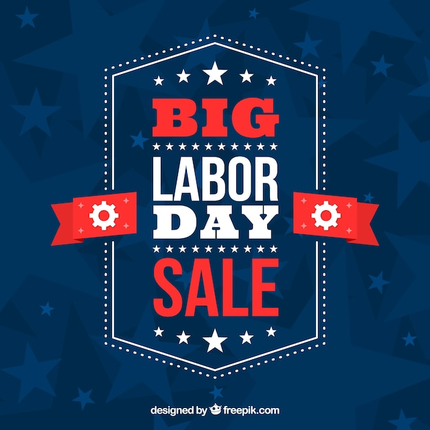 Labor day sale composition with flat design Free Vector