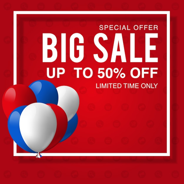 labor day sale promotion advertising banner template decor with