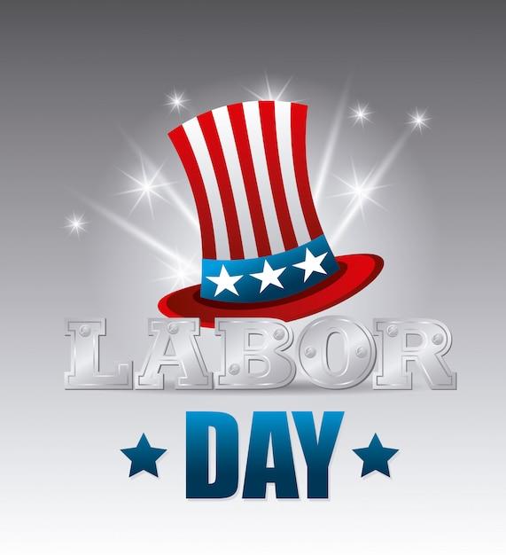 Labor day usa design. Free Vector