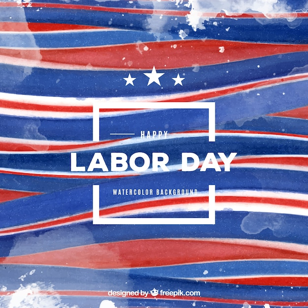Labor day watercolor stripes background