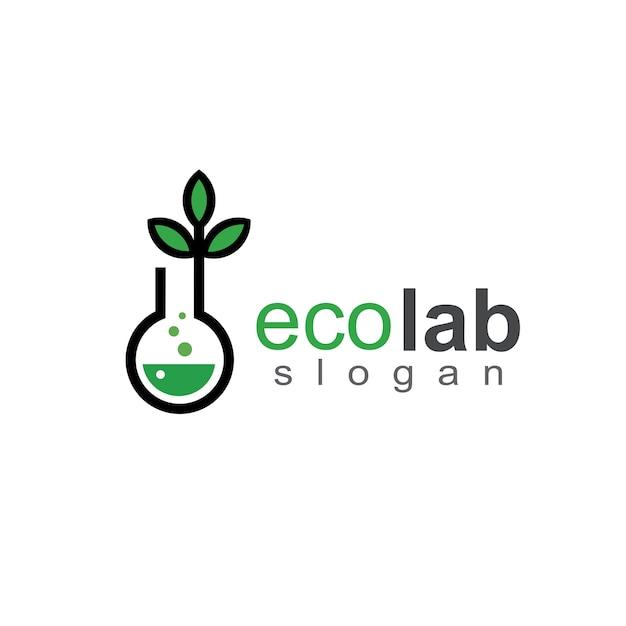 Лабораторный и химический логотип Premium векторы