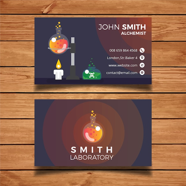 Laboratory business card template Vector | Free Download
