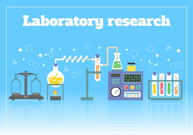 Laboratory research concept Free Vector