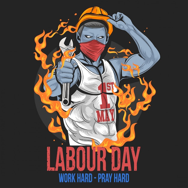 Labour day 1 may day new vector Premium Vector