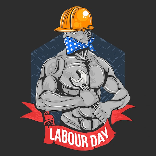 Labour day 1 may day worker Premium Vector