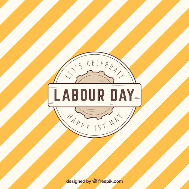 Labour day background with pattern in vintage style Free Vector