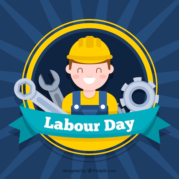 Labour day background Free Vector