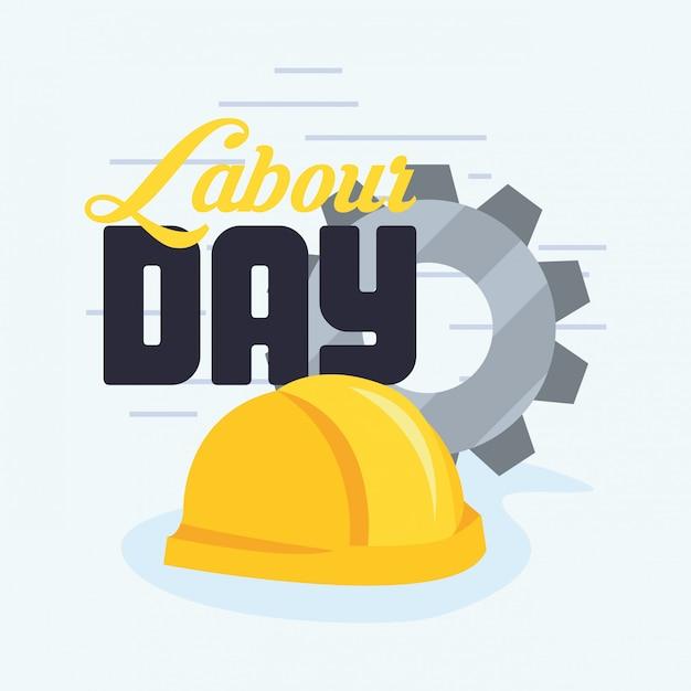 Labour day card Premium Vector
