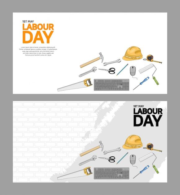 Labour day vector design poster Premium Vector