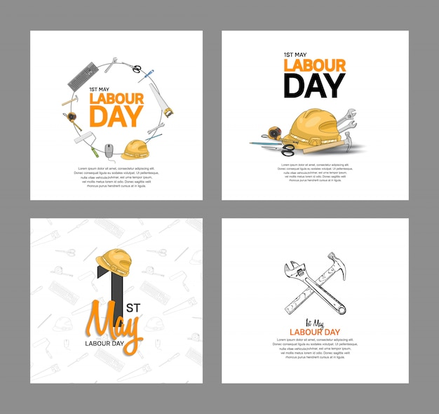 Labour day vector design poster Premium Vector