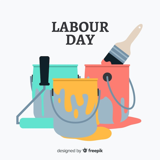 Labour day Free Vector
