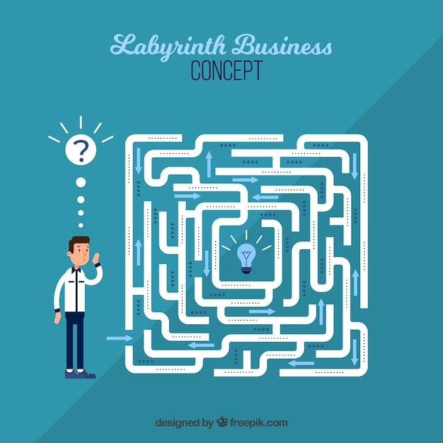 Labyrinth business concept background Free Vector