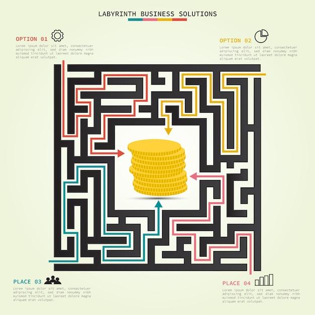 Бизнес-решения labyrinth Premium векторы