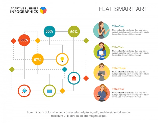 Labyrinth Flowchart Infographic. Editable Template, Process Diagram, Percentage Vector