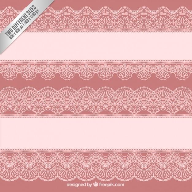 Lace borders background Premium Vector
