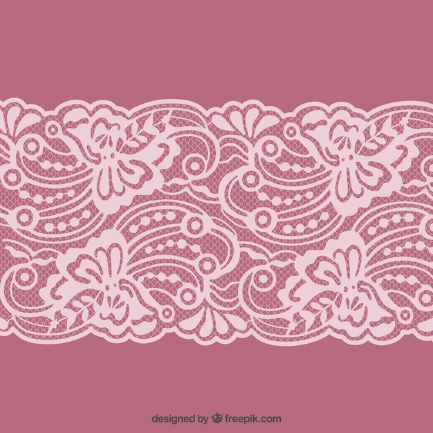 Lacy border Free Vector